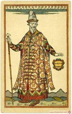"Boyar. Costume design for the opera ""Boris Godunov"" by Modest Mussorgsky - Iván Bilibin"