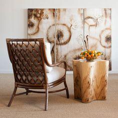 Palecek Olive Ash Burl Veneer Side Table