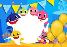 Convite aniversario Baby Shark – Fazendo a Nossa Festa Source by Dr Seuss Birthday Party, First Birthday Cards, Happy Birthday Signs, Baby First Birthday, Shark Party Decorations, Girl Birthday Decorations, Kids Party Themes, Free Baby Shower Invitations, Baby Sprinkle Invitations