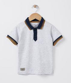 Camiseta infantil Manga curta Gola polo Marca  Póim Tecido  meia malha  COLEÇÃO INVERNO 2016 cad523a6752ba