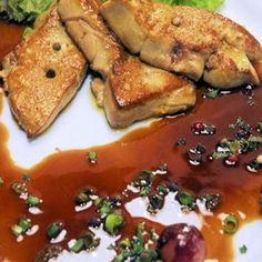 escalopes de foie gras chaud aux raisins