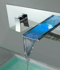 robinet cascade long chromé
