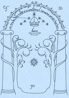 Lord of the Rings (LOTR) Door to Moria Machine Embroidery Design File