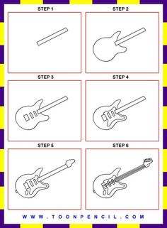 how to draw a musical instrument
