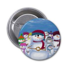 The Snowman And His Posse ~ Button, $3.15