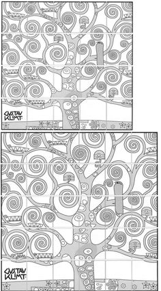 Introduce a Gustav Klimt Tree of Life art lesson with my art mural template. Each student colors a page and together make a large, collaborative mural. Collaborative Art Projects For Kids, Collaborative Mural, Class Art Projects, Classroom Art Projects, Art Classroom, Gustav Klimt, Tree Of Life Painting, Tree Of Life Art, Art Videos For Kids