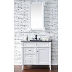 """James Martin Brittany 36"""" Traditional Single Sink Bathroom Vanity in Cottage White 650-V36-CWH at DiscountBathroomVanities.com"""