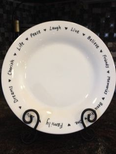 Personalized Plates  Set of 8 by tensixeleven on Etsy