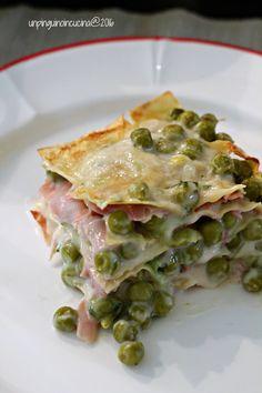 Ham&Pea Lasagne - Lasagne con piselli e prosciutto cotto | Un Pinguino in Cucina
