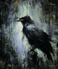 lindsey kustusch I love this painting of a crow or Raven! Plus