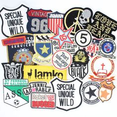 20pcs/lot Punk Style Embroidered patches Motif Badge Applique random assorted Clothing Material DIY Handmade Patchworks #clothing,#shoes,#jewelry,#women,#men,#hats,#watches,#belts,#fashion,#style