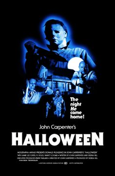 Halloween On Halloween night of old Michael Myers stabbed his sister to death. After sitting in a mental hospital for 15 years, Myers escapes and returns to Haddonfield to kill. Horror Movie Posters, Best Horror Movies, Classic Horror Movies, Scary Movies, Horror Icons, Cinema Posters, Donald Pleasence, Halloween Film, Halloween Horror