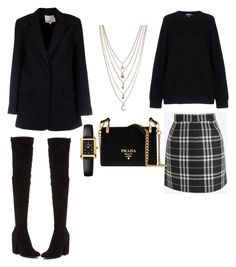 """Untitled #111"" by vocabularyfashion on Polyvore featuring DKNY, Kendall + Kylie, Prada, Ettika, Fendi and 3.1 Phillip Lim"