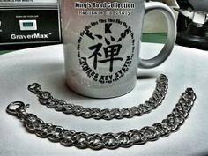 #KingsRoad #Collection by FKS Jewels #Rock, #Fitness & #Tattoo #inspiration... Bracciali realizzati artigianalmente con maglie zigrinate e incise in argento massiccio 925% con logo FKS Jewels