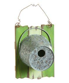 Rustic Bucket Birdhouse