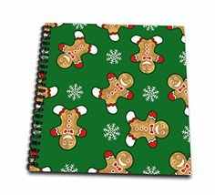 Russ Billington Christmas Designs - Cheerful Christmas Gingerbread Men and Snowflakes - Memory Book 12 x 12 inch (db_219036_2) ** Details can be found by clicking on the image.
