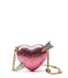 b70abae18fb238 GUCCI Broadway Glitter Resin Heart Minaudiere Clutch Bag Gucci Designer,  Day Designer, Gucci Handbags