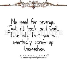 Revenge,how sweet it is!  Looking forward to it!!!!!!!!!!!!!