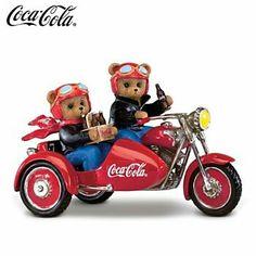 On The Go With Coca-Cola Teddy Bear Motorcycle Figurine - Coca Cola - Idea of Coca Cola Coca Cola Bear, Pepsi Cola, Coca Cola Vintage, Cocoa Cola, Coca Cola Christmas, Always Coca Cola, World Of Coca Cola, Teddy Bears, Pin Up Girls