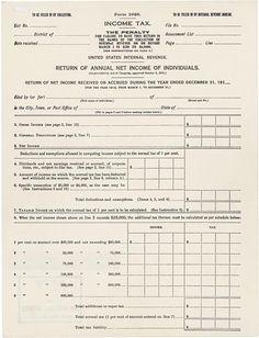 Happy 100th Birthday, Federal Income Tax! | Going Concern