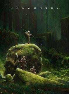 Party of 3 f Druid Staff f Tiefling Sorcerer m Fighter 2 Handed Sword Forest hills Fantasy,Fantasy art,art,арт,Alexandru Negoita Dark Fantasy, Fantasy Concept Art, Fantasy Art, Arte Sci Fi, Sci Fi Art, Fantasy Places, Fantasy World, Fantasy Landscape, Landscape Art