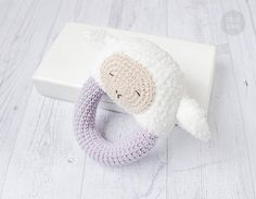 Instant download - --- This listing is only a PDF PATTERN, not a finished product --- Sleepy Sheep Rattle could become a super cute friend for your baby! Loop design makes it is easy for little hands to grab and play. In this PDF Pattern youll find detailed instructions and photos which