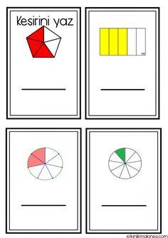 3. Sınıf Kesirler Çalışma Sayfaları - Etkinlik Makinesi   Etkinlik Makinesi Playing Cards, Handmade, Maths, Google, Hand Made, Playing Card Games, Game Cards, Playing Card, Handarbeit