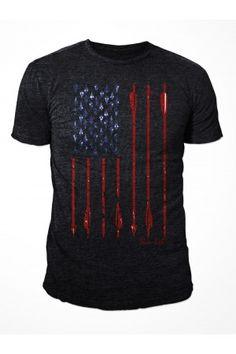 Men's Bow Life® American Archer - Black Short Sleeve T-Shirt