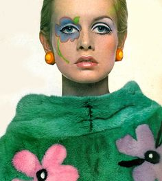 """theyroaredvintage: """" Twiggy's 1967 Vogue cover. """""""
