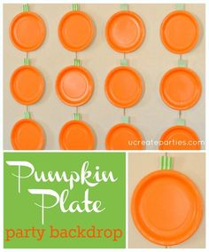 Pumpkin Plate Party Backdrop Tutorial