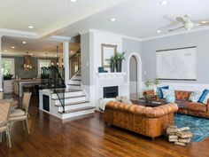 Open floor plan, even with stairs