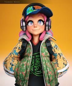 3d Model Character, Character Modeling, Character Concept, Character Art, Concept Art, Character Design, 3d Cartoon, Girl Cartoon, Cartoon Characters