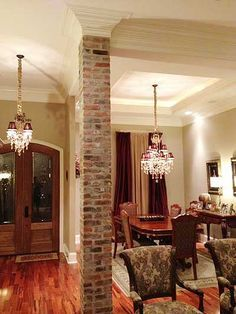 Image result for covering columns with wood kitchen