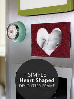 This DIY photo frame is so easy to make with Mod Podge and glitter, and is perfect for Valentine's Day. Makes a great gift!