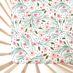 Crib Sheet Pink Winter Floral. Fitted Crib Sheet. Baby Bedding. Crib Bedding. Crib Sheets. Pink Floral Crib Sheet. Girl Crib Sheet. by iviebaby on Etsy https://www.etsy.com/listing/249066159/crib-sheet-pink-winter-floral-fitted