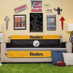 NFL Licensed Furniture Protector - Sofa - Pittsburgh Steelers