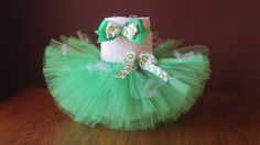 Infant~ Baby~ Green Tutu St. Patrick's Day Tutu and Hair Clip/Headband ~Size 6-12 months: ~ Ready To Ship! by JustScentsplusCrafts on Etsy