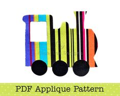 Train Applique Template, Transport, DIY, Children, PDF Pattern by Angel Lea Designs. $2.30, via Etsy.