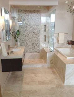 Elegant #Bathroom--probably a never but a girl can dream :)