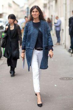Esercizi di stile su un evergreen: 10 modi di abbinare i pantaloni bianchi in denim.