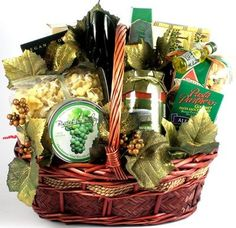 Italian Sunsets Gourmet Gift Basket | Italian Foods and More | Christmas Gift Idea Organic Stores.