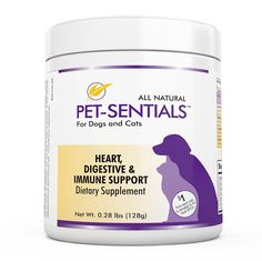 Pet-Sentials Plus - All-in-One Dietary Supplement Powder for Pet Cats and Dogs - All Natural and Organic Ingredients - With Antioxidants for Cardiovascular, Digestive, and Immune Support -- You can find more details by visiting the image link.