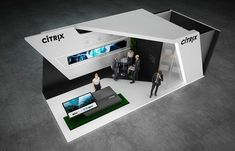 "Exhibition stand "" CITRIX"" 40 sq.m., 2 sides open. Tokyo, JapanDesign by ""GM stand design""Designer: Nazar Malets"