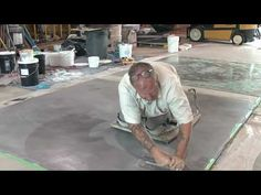 Concrete Resurfacing - Skimcoat Overlay Application-- great instructional vid