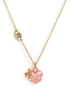 Juicy Couture 'Wish' Faceted Heart Necklace | Nordstrom - StyleSays
