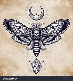 stock-vector-death-s-head-hawk-moth-with-moons-and-stones-design-tattoo-art-isolated-vector-illustration-291864086.jpg (1435×1600)