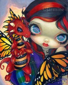 Darling Dragonling III Jasmine Becket-Griffith CANVAS PRINT 10 dragon fairy art