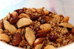 receita básica de granola crocante