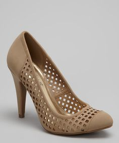 Take a look at this Taupe Adoncia-02 Lattice Pump by Bamboo on #zulily today!