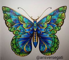 Amazing adult coloring page from Johanna Basford